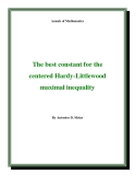 "Đề tài "" The best constant for the centered Hardy-Littlewood maximal inequality"""