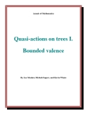 """Đề tài """" Quasi-actions on trees I. Bounded valence """""""