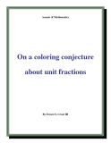 "Đề tài "" On a coloring conjecture about unit fractions """