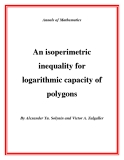 "Đề tài ""  An isoperimetric inequality for logarithmic capacity of polygons """