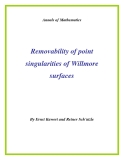 "Đề tài ""  Removability of point singularities of Willmore surfaces """