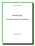 "Đề tài "" Moduli spaces of surfaces and real structures """
