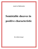 "Đề tài ""Semistable sheaves in positive characteristic """
