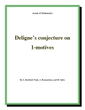 "Đề tài "" Deligne's conjecture on 1-motives """
