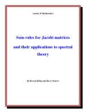 "Đề tài "" Sum rules for Jacobi matrices and their applications to spectral theory """