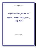 "Đề tài "" Rogers-Ramanujan and the Baker-Gammel-Wills (Pad´e) conjecture """
