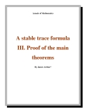 "Đề tài "" A stable trace formula III. Proof of the main theorems"""