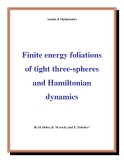"Đề tài ""  Finite energy foliations of tight three-spheres and Hamiltonian dynamics """