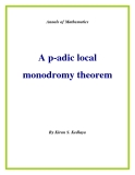 "Đề tài ""  A p-adic local monodromy theorem """