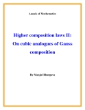 "Đề tài ""  Higher composition laws II: On cubic analogues of Gauss composition """