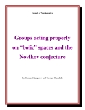 "Đề tài ""  Groups acting properly on ""bolic"" spaces and the Novikov conjecture """