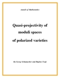 "Đề tài "" Quasi-projectivity of moduli spaces of polarized varieties """