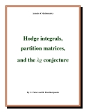 """Đề tài """"  Hodge integrals, partition matrices, and the λg conjecture """""""
