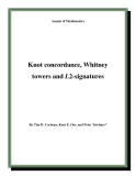 "Đề tài ""  Knot concordance, Whitney towers and L2-signatures """