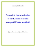 "Đề tài ""  Numerical characterization of the K¨ahler cone of a compact K¨ahler manifold """