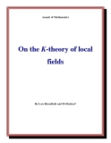 "Đề tài "" On the K-theory of local fields """