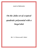 "Đề tài "" On the Julia set of a typical quadratic polynomial with a Siegel disk """