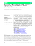 Báo cáo khoa học: Neuropeptide Y, B-type natriuretic peptide, substance P and peptide YY are novel substrates of fibroblast activation protein-a