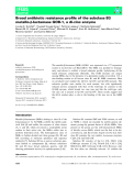 Báo cáo khoa học: Broad antibiotic resistance profile of the subclass B3 metallo-b-lactamase GOB-1, a di-zinc enzyme