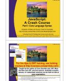 JavaScript: A Crash Course – Core Language Syntax
