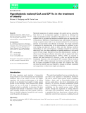 Báo cáo khoa học:  Hypothalamic malonyl-CoA and CPT1c in the treatment of obesity