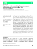 Báo cáo khoa học:  Cytochrome P450 metabolizing fatty acids in plants: characterization and physiological roles