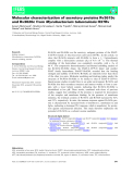 Báo cáo khoa học: Molecular characterization of secretory proteins Rv3619c and Rv3620c fromMycobacterium tuberculosisH37Rv