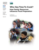 Who Has Time To Cook -   How Family Resources Influence Food Preparation