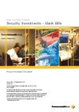 WHAT YOU NEED TO KNOW SECURITY INVESTMENT - BANK BILLS