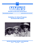 Guidelines for School Programs To Prevent Skin Cancer