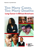 Too Many Cases,   Too Many Deaths: Lung Cancer in African Americans