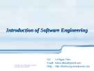 Introduction of Software Engineering