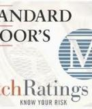Markets The Credit Rating Agencies