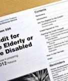 Credit for the Elderly or the Disabled For use in preparing 2012 Returns
