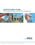 myFICO Insider's Guide to 2010 credit card reform and new FHA mortgage rules