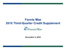 Fannie Mae 2010 Third-Quarter Credit Supplement