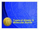 Types of Atomic & Molecular Bonds