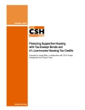Financing Supportive Housing with Tax-Exempt Bonds and 4% Low-Income Housing Tax Credits