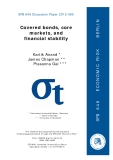 SFB 649 Discussion Paper 2012-065 Covered bonds, core  markets, and   financial stability
