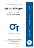 SFB 649 Discussion Paper 2007-037 : Calibrating CAT Bonds for  Mexican Earthquakes