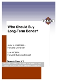 Who Should Buy Long-Term Bonds? - INTERNATIONAL CENTER FOR FINANCIAL ASSET MANAGEMENT AND ENGINEERING