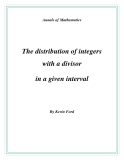 "Đề tài "" The distribution of integers with a divisor in a given interval """