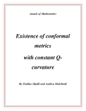 "Đề tài "" Existence of conformal metrics with constant Qcurvature """