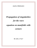 "Đề tài "" Propagation of singularities for the wave equation on manifolds with corners """