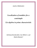 "Đề tài "" Localization of modules for a semisimple Lie algebra in prime characteristic """