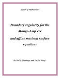 "Đề tài "" Boundary regularity for the Monge-Amp`ere and affine maximal surface equations """
