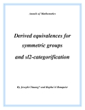 "Đề tài "" Derived equivalences for symmetric groups and sl2-categorification """