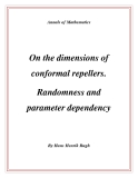 "Đề tài "" On the dimensions of conformal repellers. Randomness and parameter dependency """