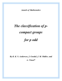 "Đề tài ""  The classification of pcompact groups for p odd """