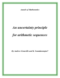 "Đề tài "" An uncertainty principle for arithmetic sequences """